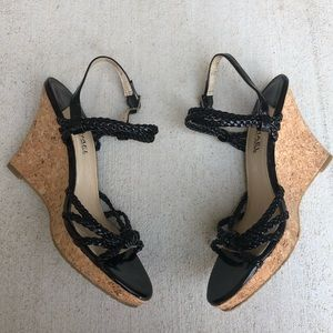 Michael Kors Patent Leather Wedge Cork bottom
